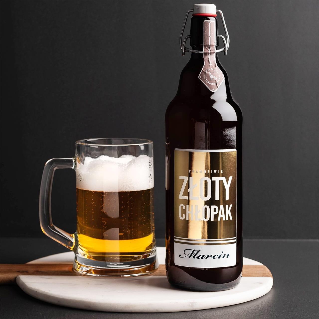 Piwo litrowe jako prezent na Dzień Chłopaka