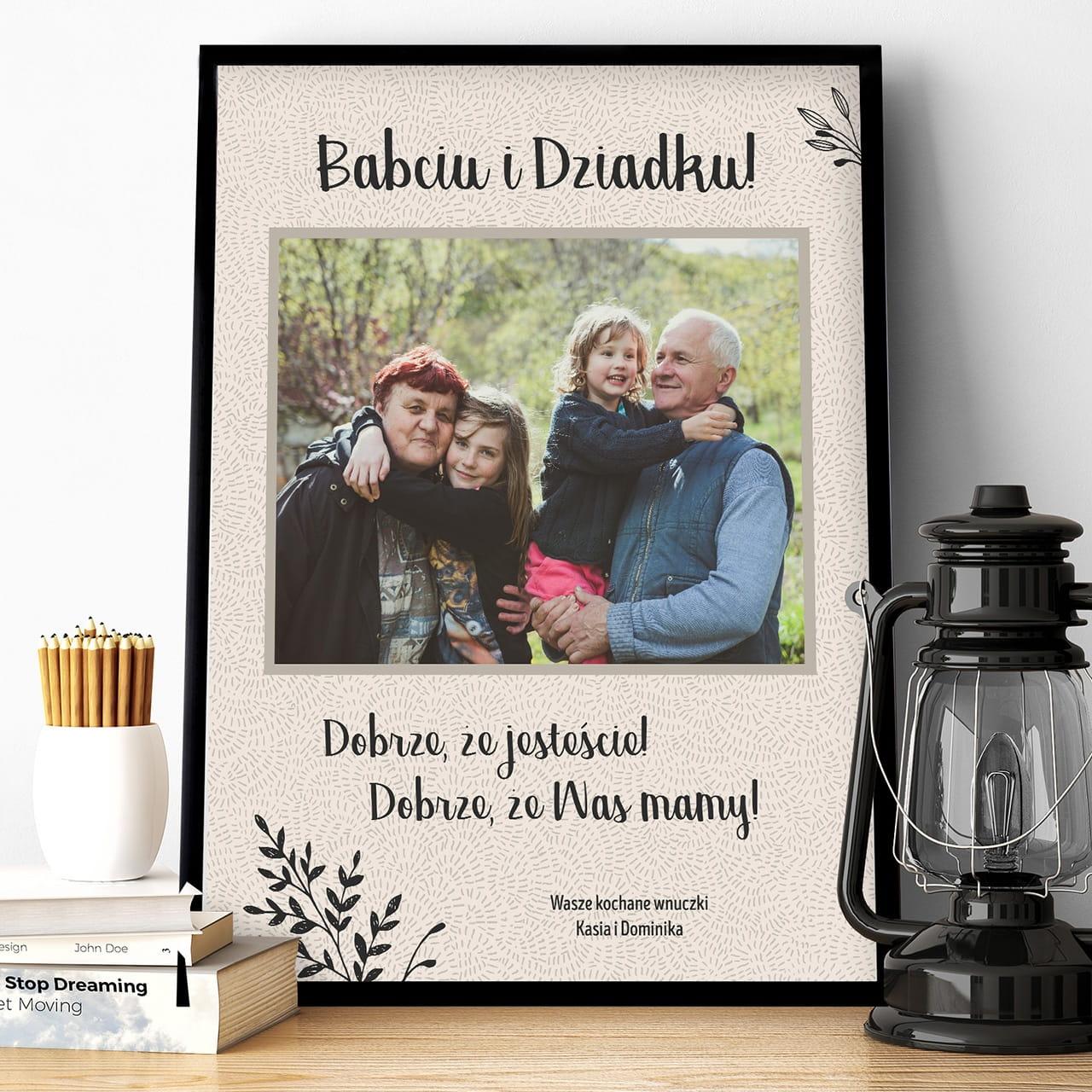 Plakat dla babci i dziadka