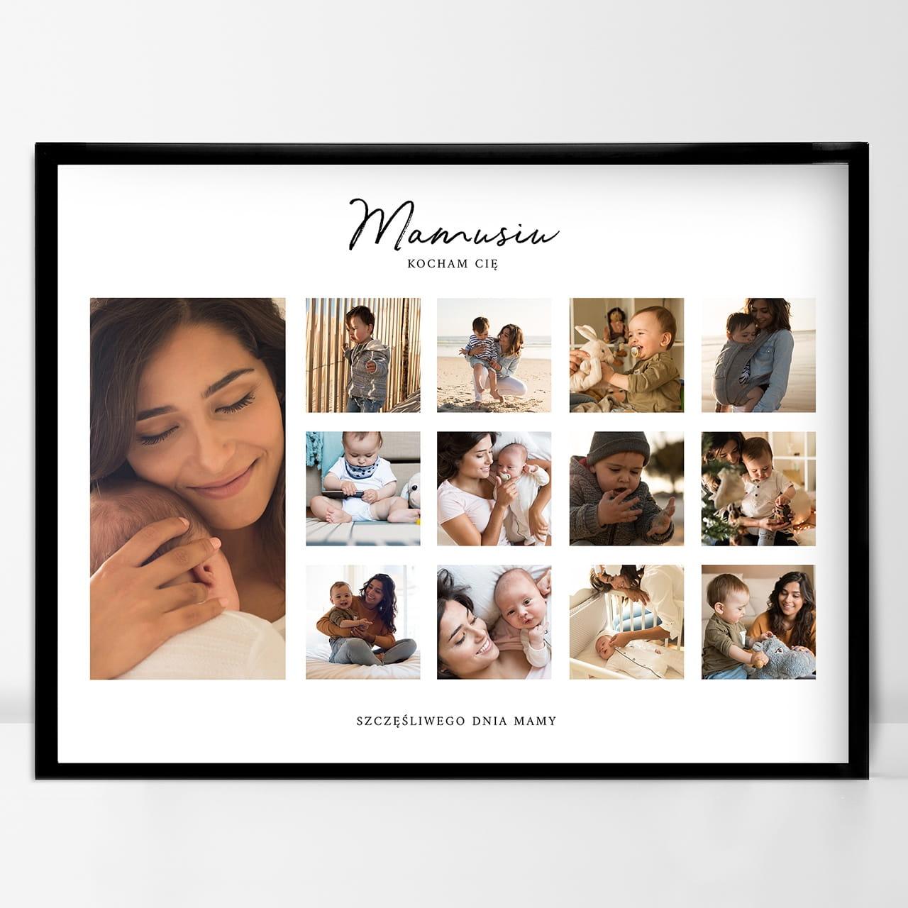 Plakat ze zdjęciami jako wyjątkowy prezent dla mamy