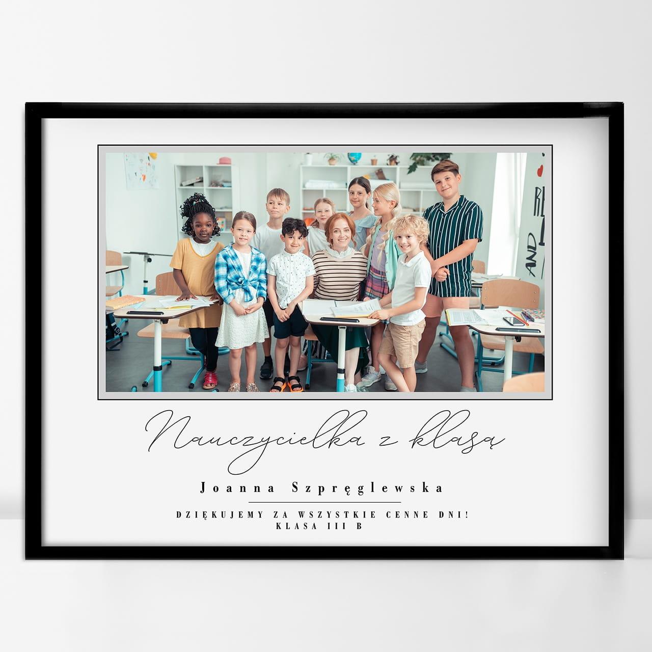 Plakat ze zdjęciem to idealny prezent na Dzień Nauczyciela