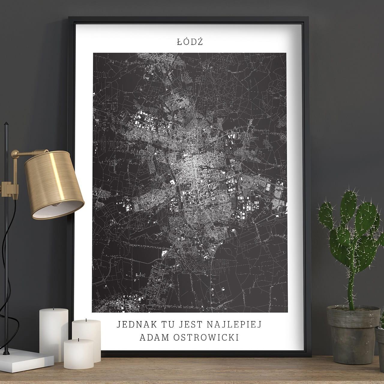 Plakat personalizowany MAPA MIASTA - ŁÓDŹ