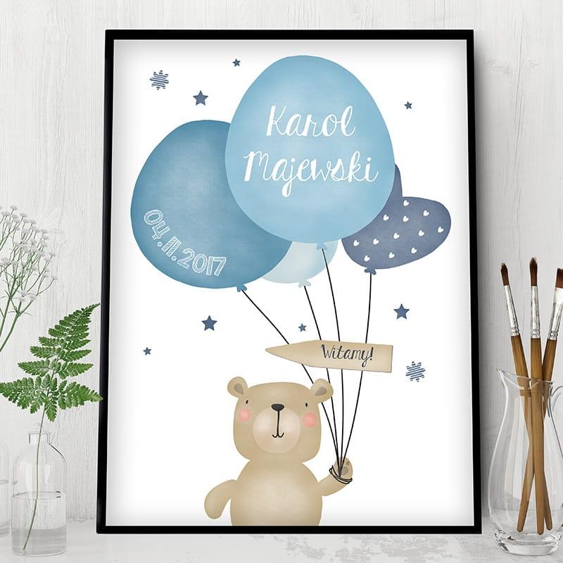 Plakat personalizowany to prezent z okazji narodzin dziecka