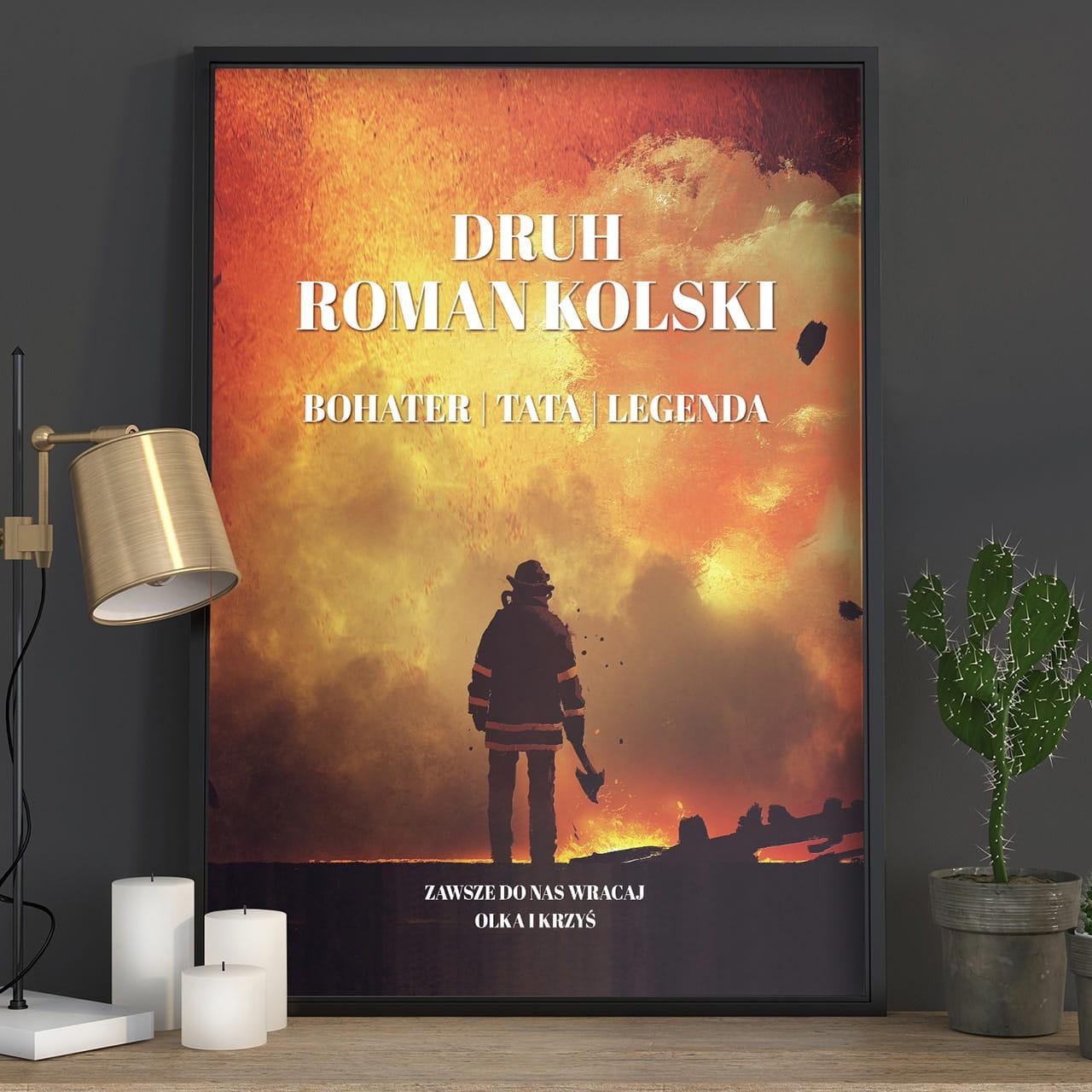 Plakat personalizowany 31x41 cm STRAŻAK