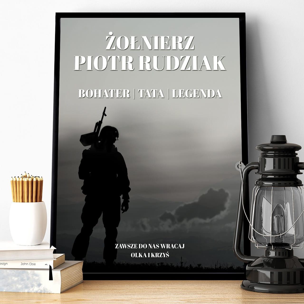Plakat na prezent dla żołnierza