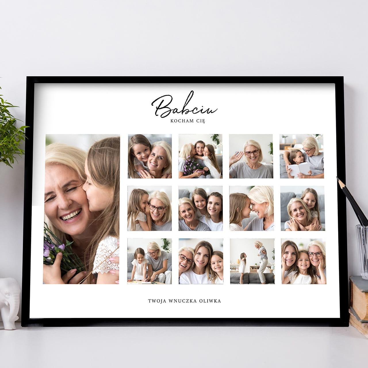 Plakat ze zdjęciami to wspólny prezent dla dziadków