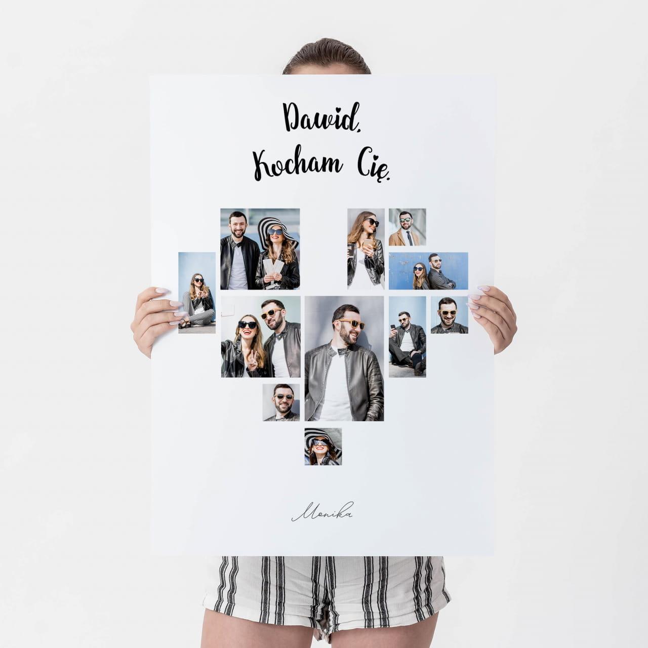 Fotoplakat dla chłopaka jako prezent na pożegnanie przed wyjazdem