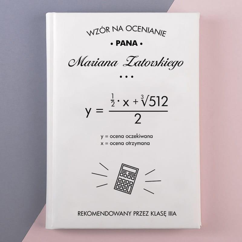 Planner książkowy WZÓR NA OCENIANIE biały