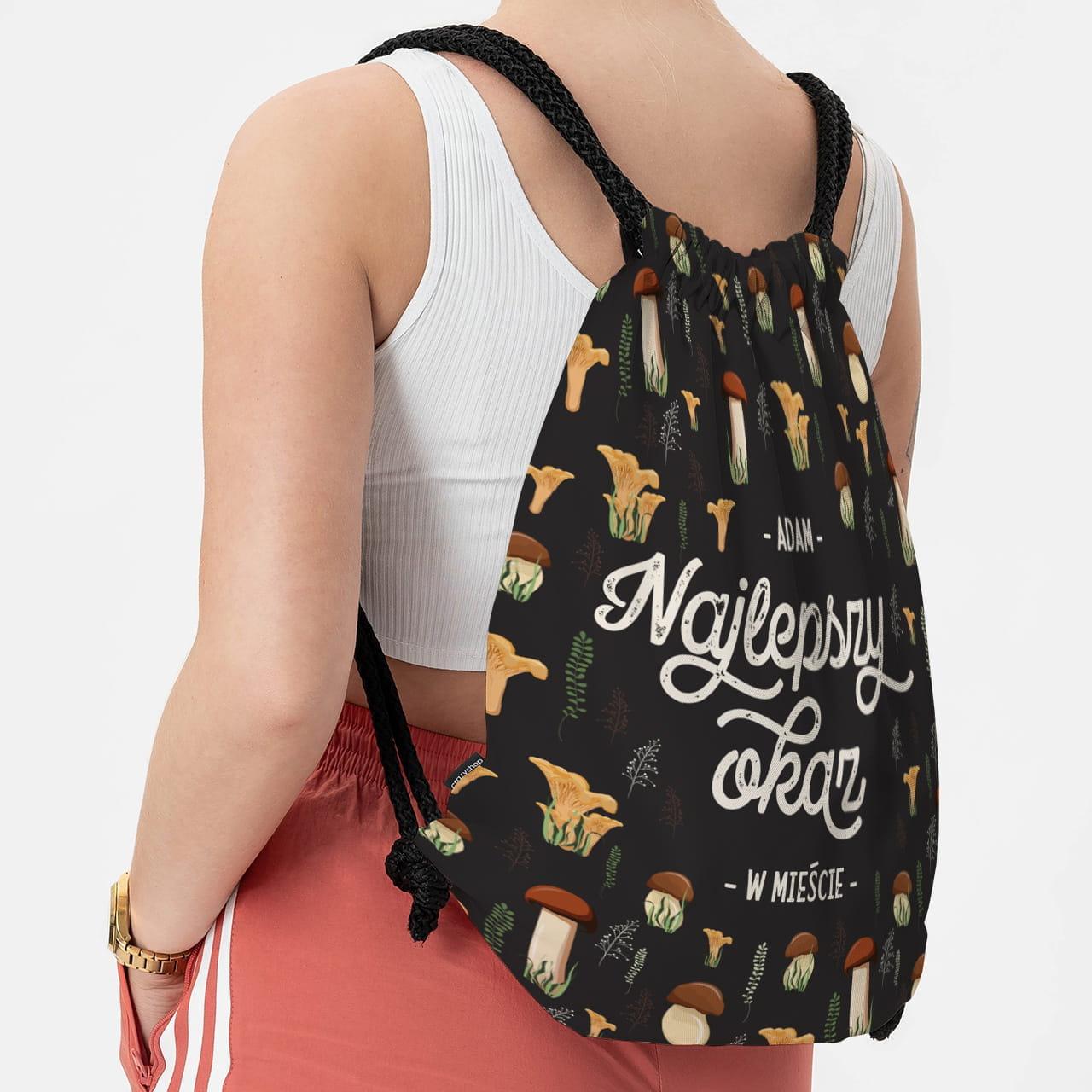 Plecak worek jako gadżet dla grzybiarza