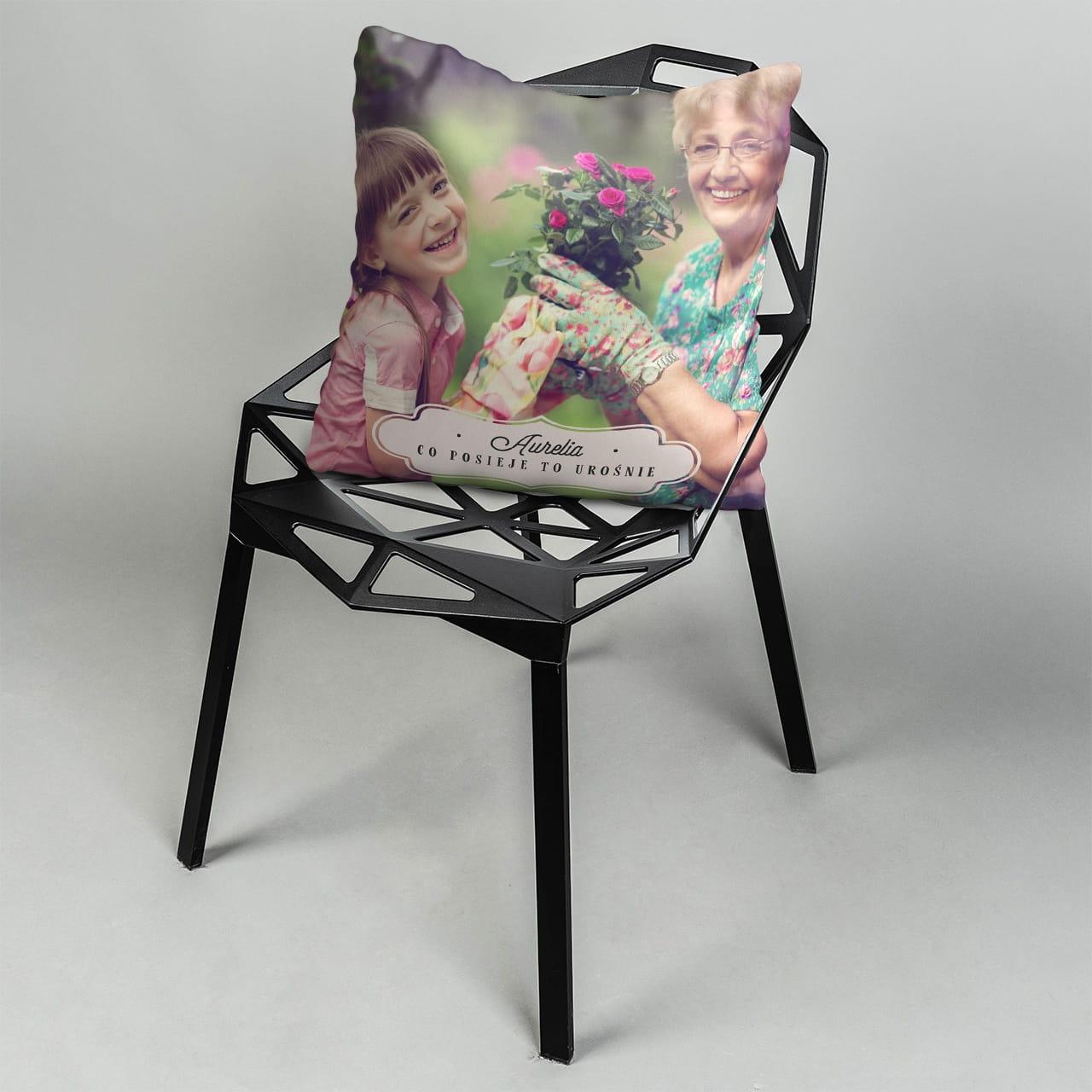 Poduszka ze zdjęciem na prezent dla babci