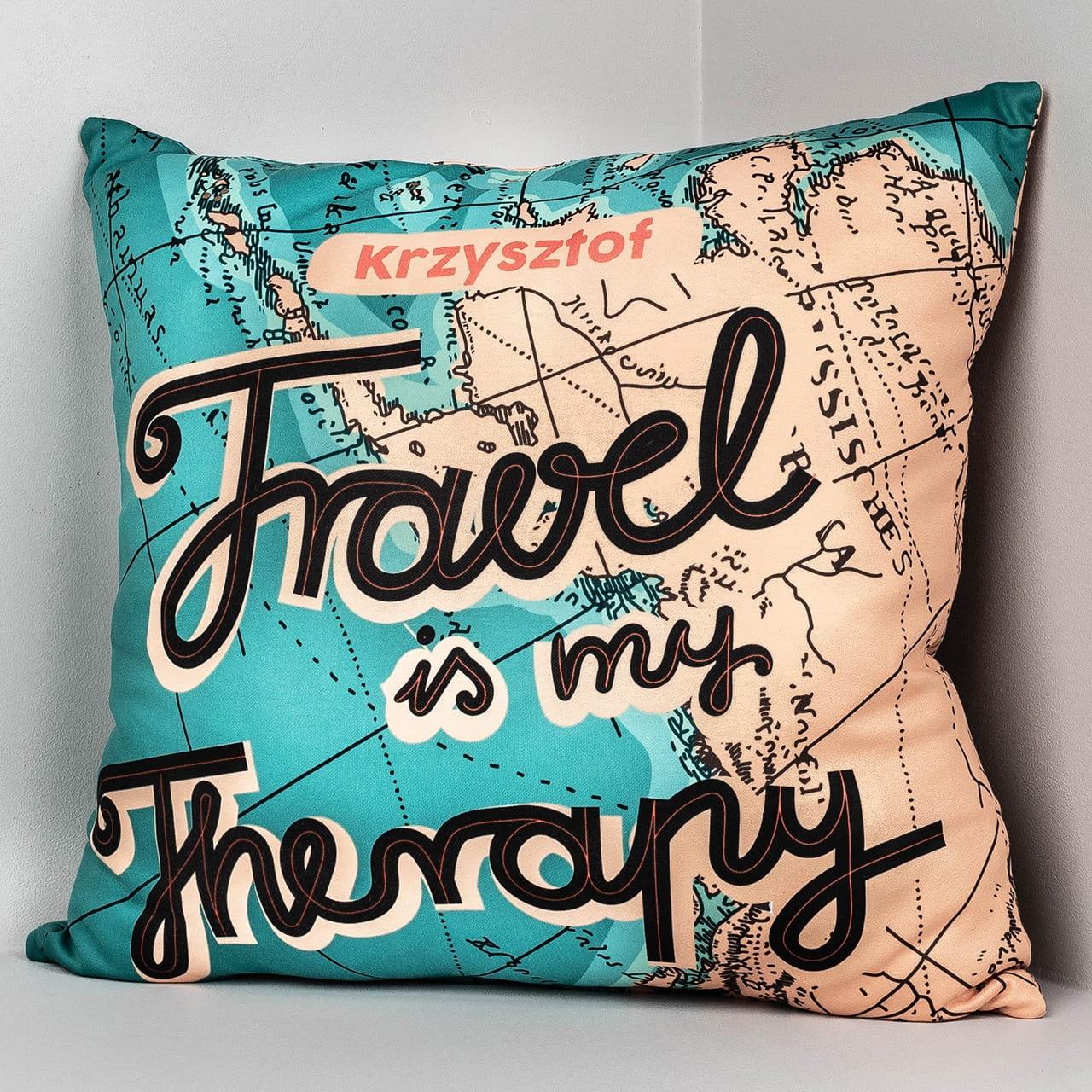 Poduszka TRAVEL THERAPY prezent dla podróżnika