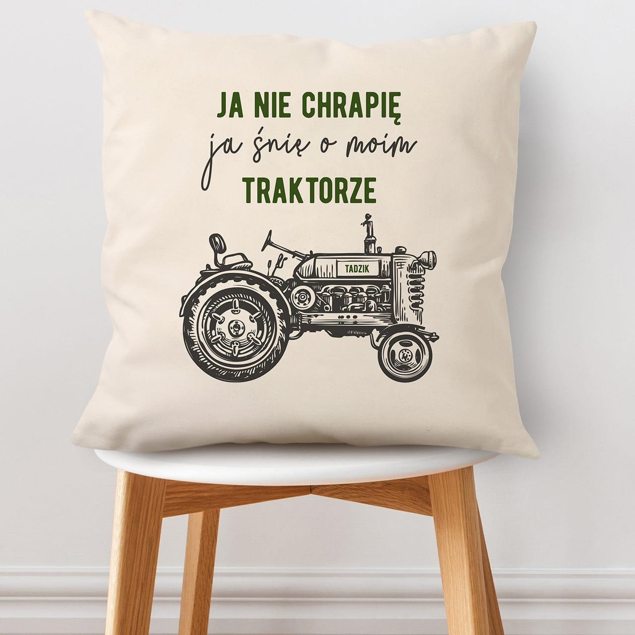 Poduszka to miły prezent dla rolnika