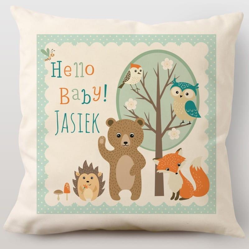 Poduszka z nadrukiem jako prezent na narodziny dziecka