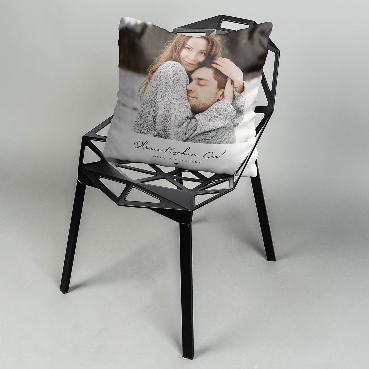 Poduszka ze zdjęciem - przytulny prezent na pożegnanie przed wyjazdem