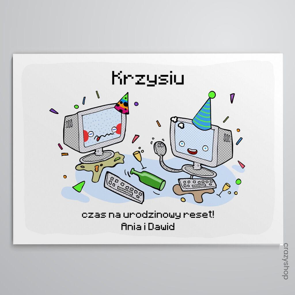Kartka urodzinowa DLA INFORMATYKA