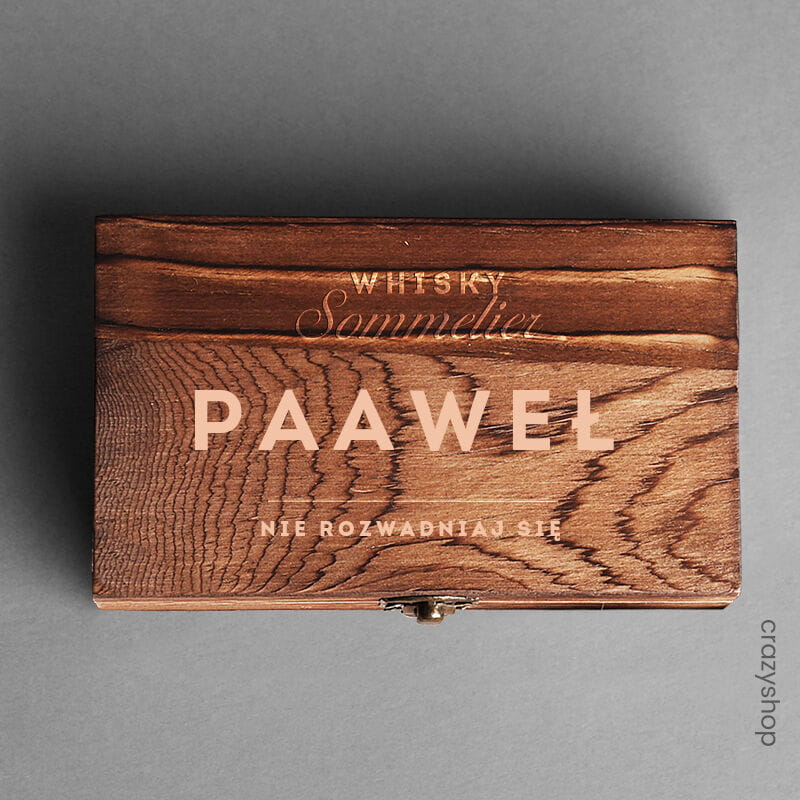 Kamienie do whisky - elegancki prezent dla Pawła