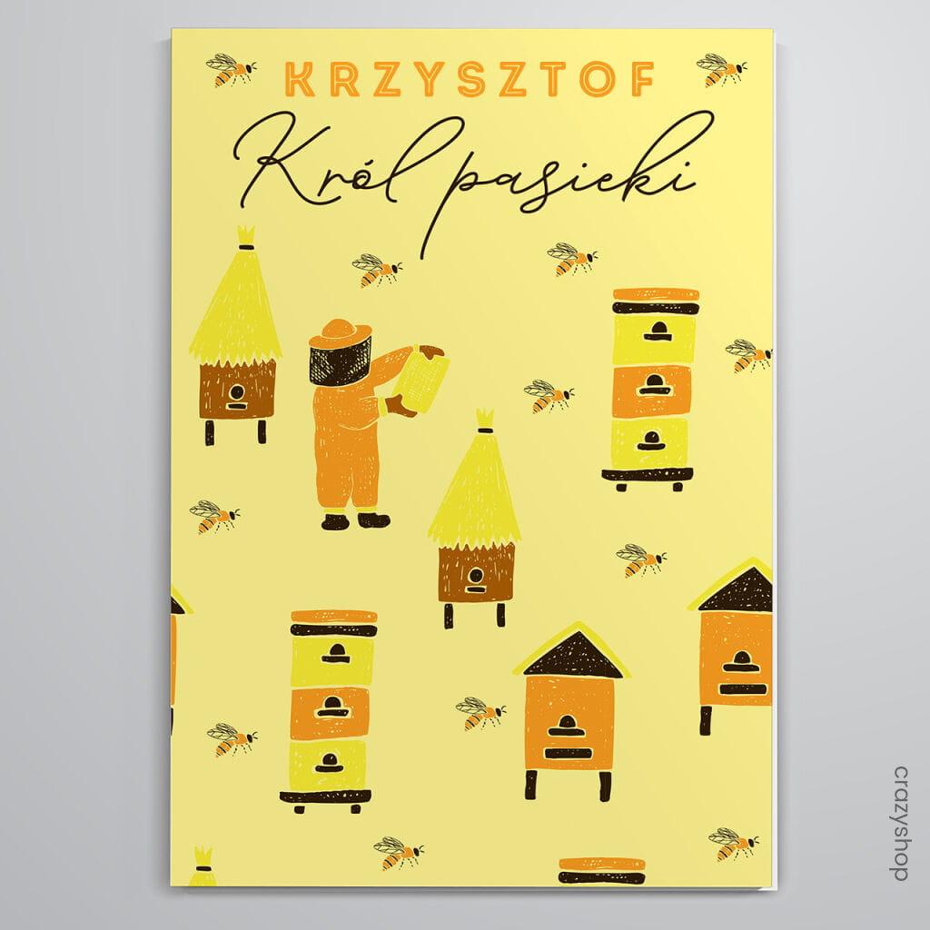 Kartka dla pszczelarza KRÓL PASIEKI