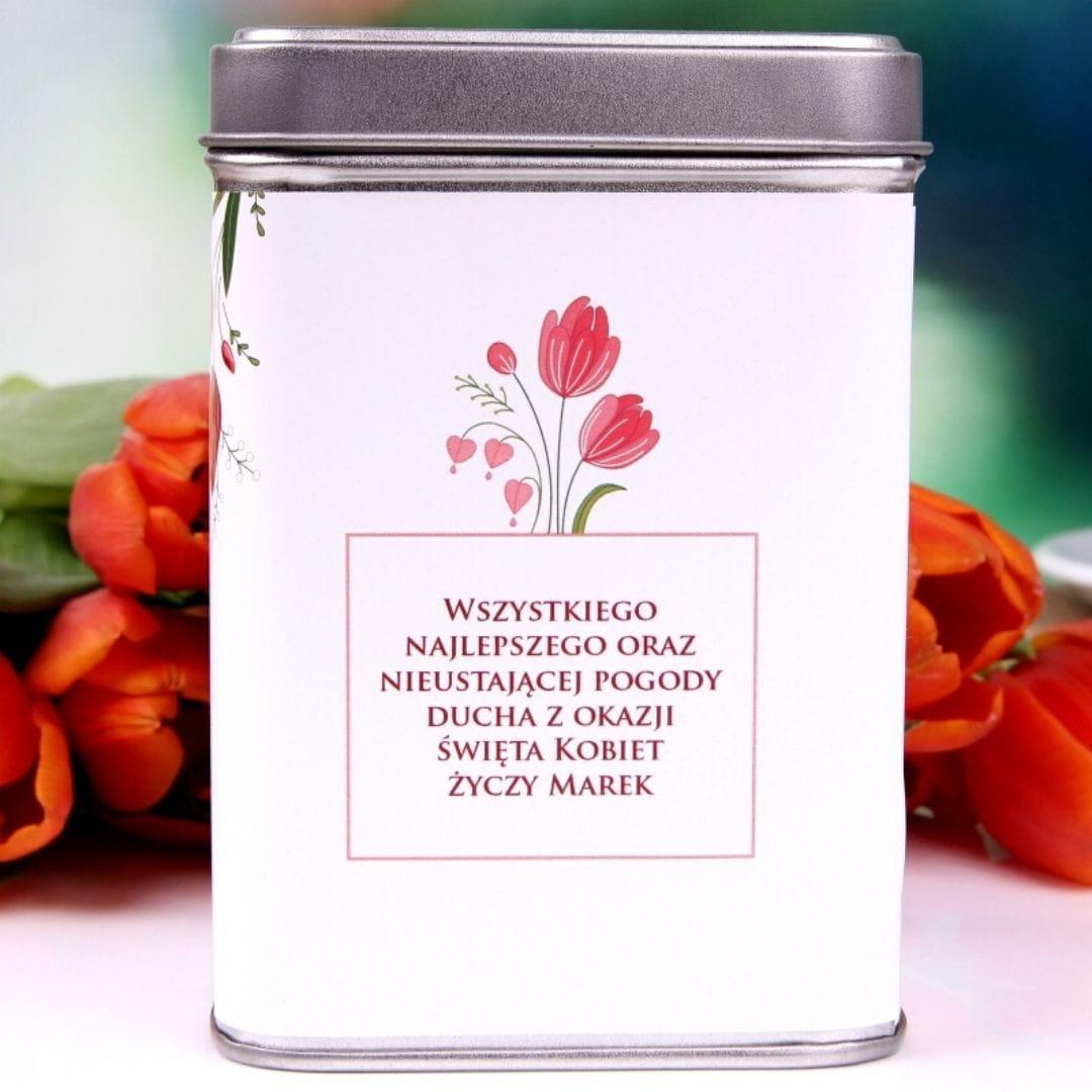 Herbata personalizowana PREZENT NA DZIEŃ KOBIET