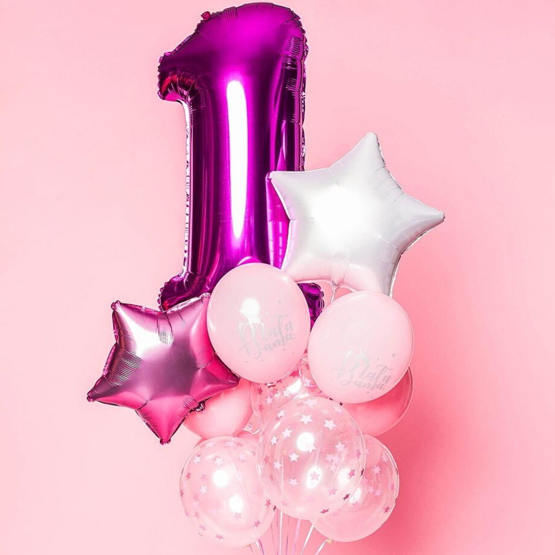 Balon foliowy CYFRA 1 różowy 100cm