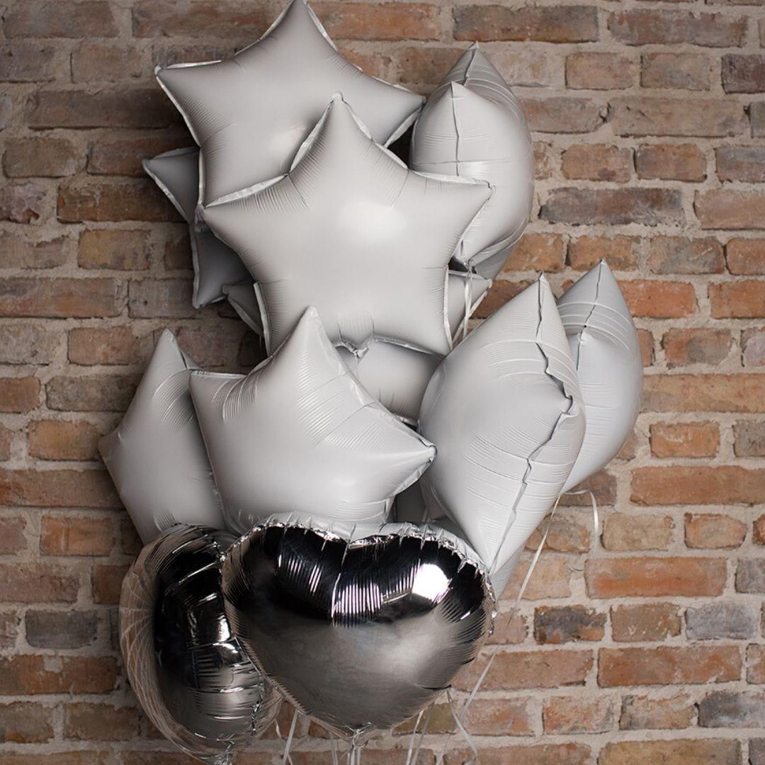 Balon foliowy KOŁO srebrny 45cm