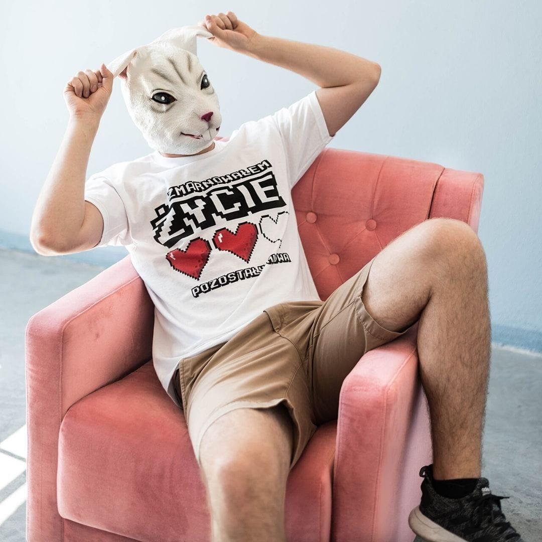Koszulka męska z nadrukiem ZMARNOWAŁEM ŻYCIE