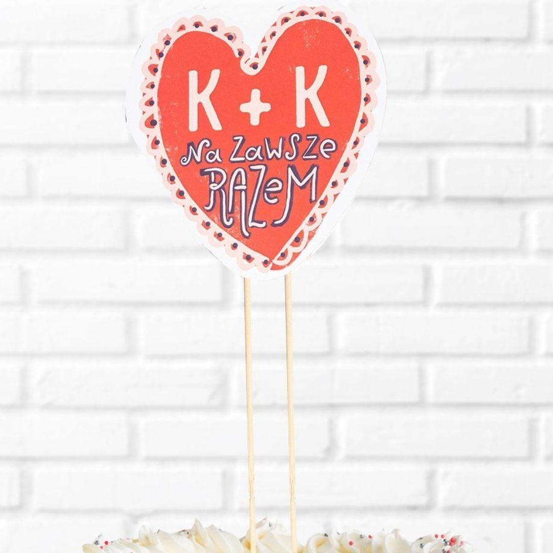 Topper personalizowany na rocznicę ślubu