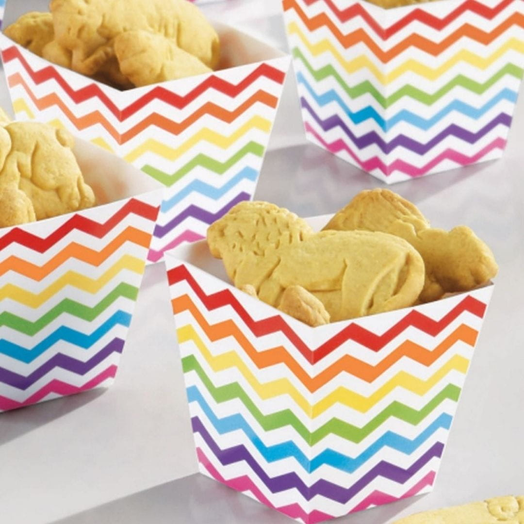Pudełka to kolorowe opakowania na słodycze