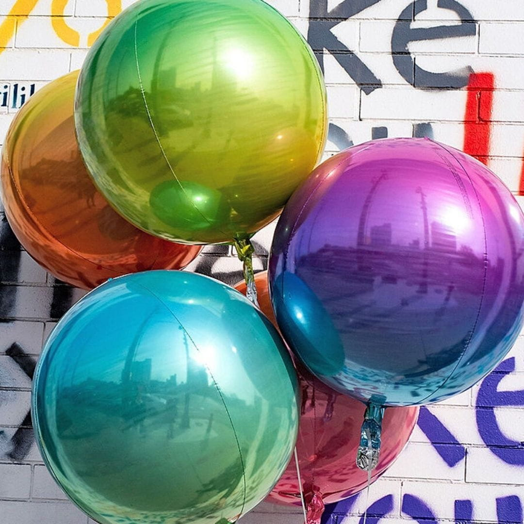 Balon foliowy kula FIOLET ombre 40cm