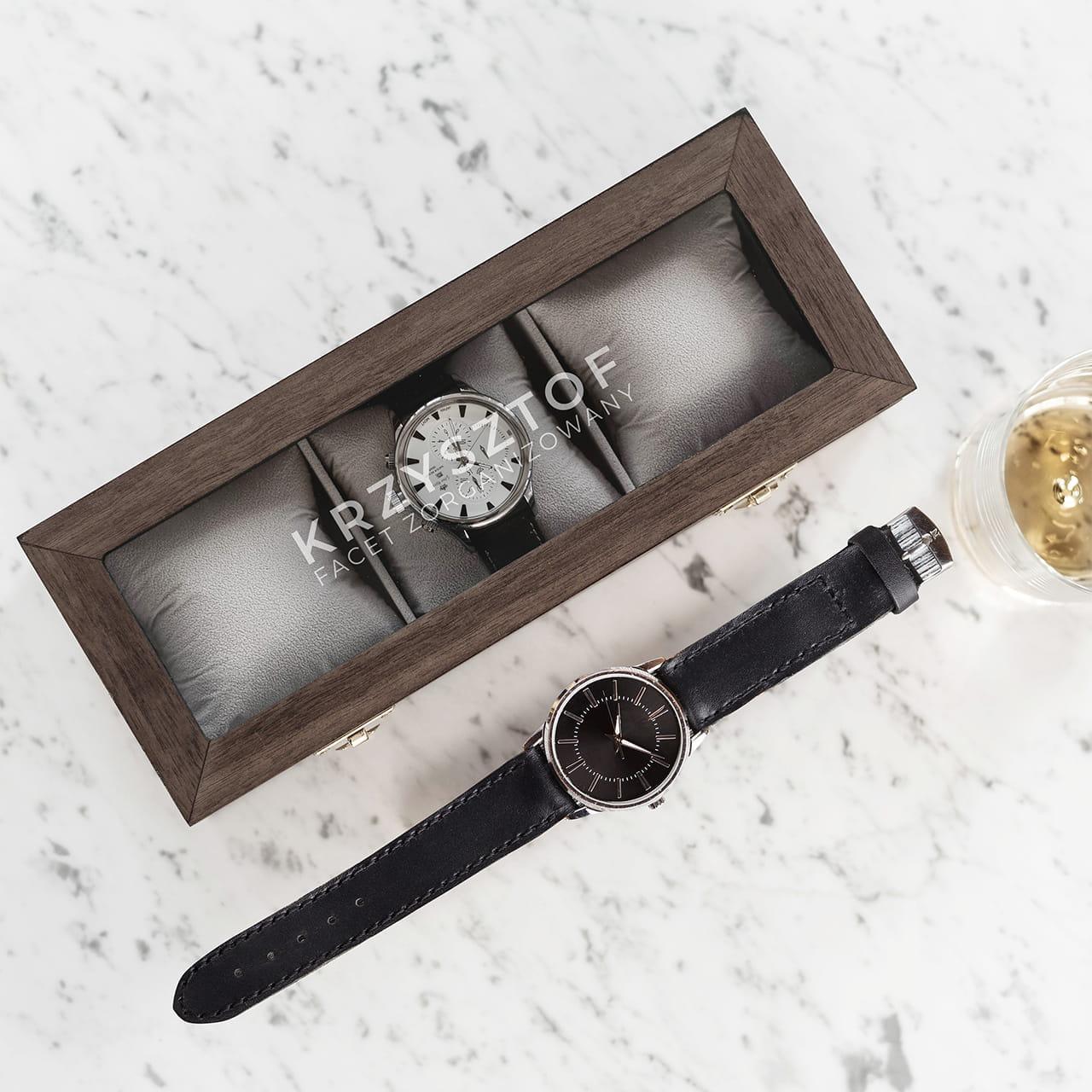 Pudełko na zegarki jako praktyczny prezent dla Krzysia