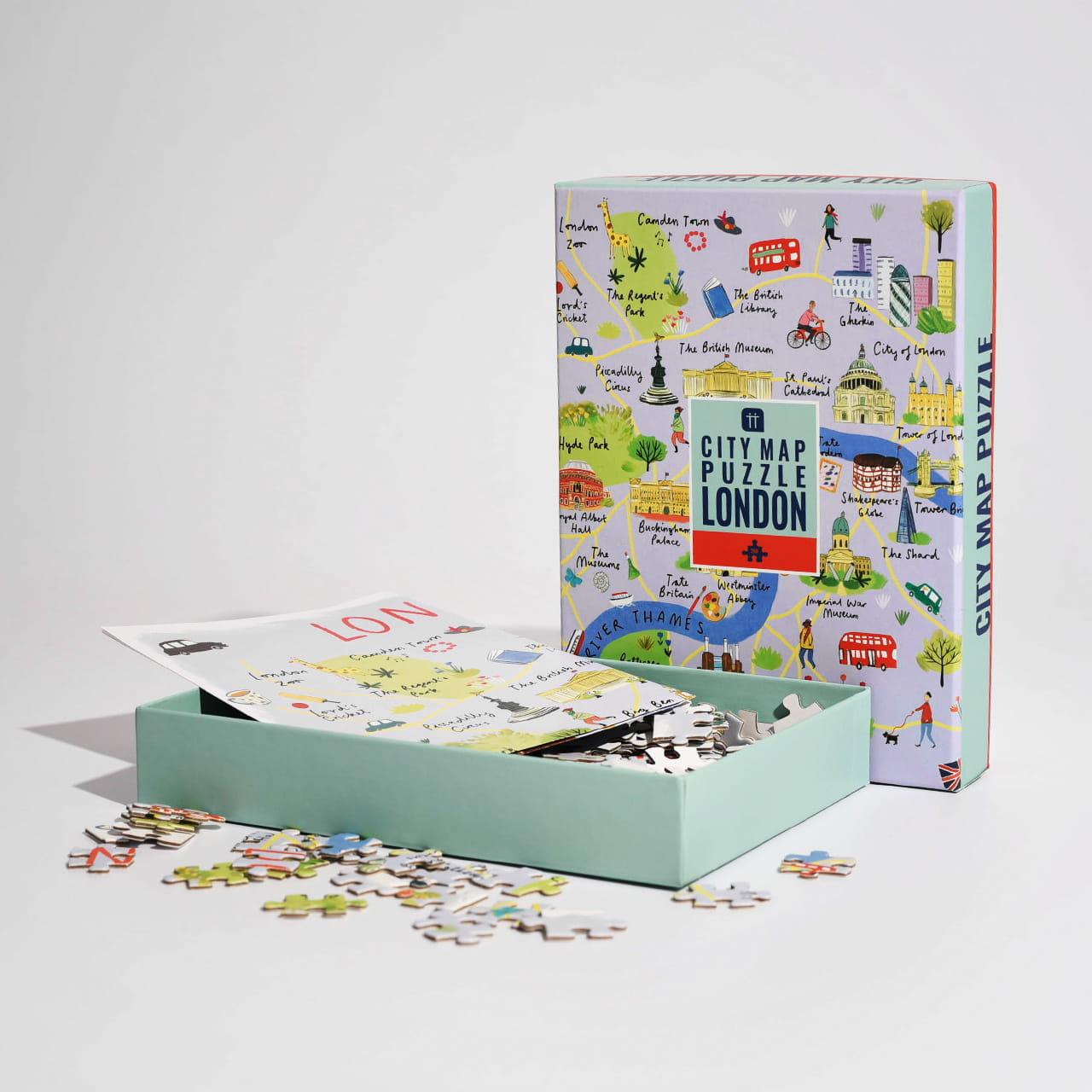 Puzzle mapa LONDYN na prezent dla podróżnika