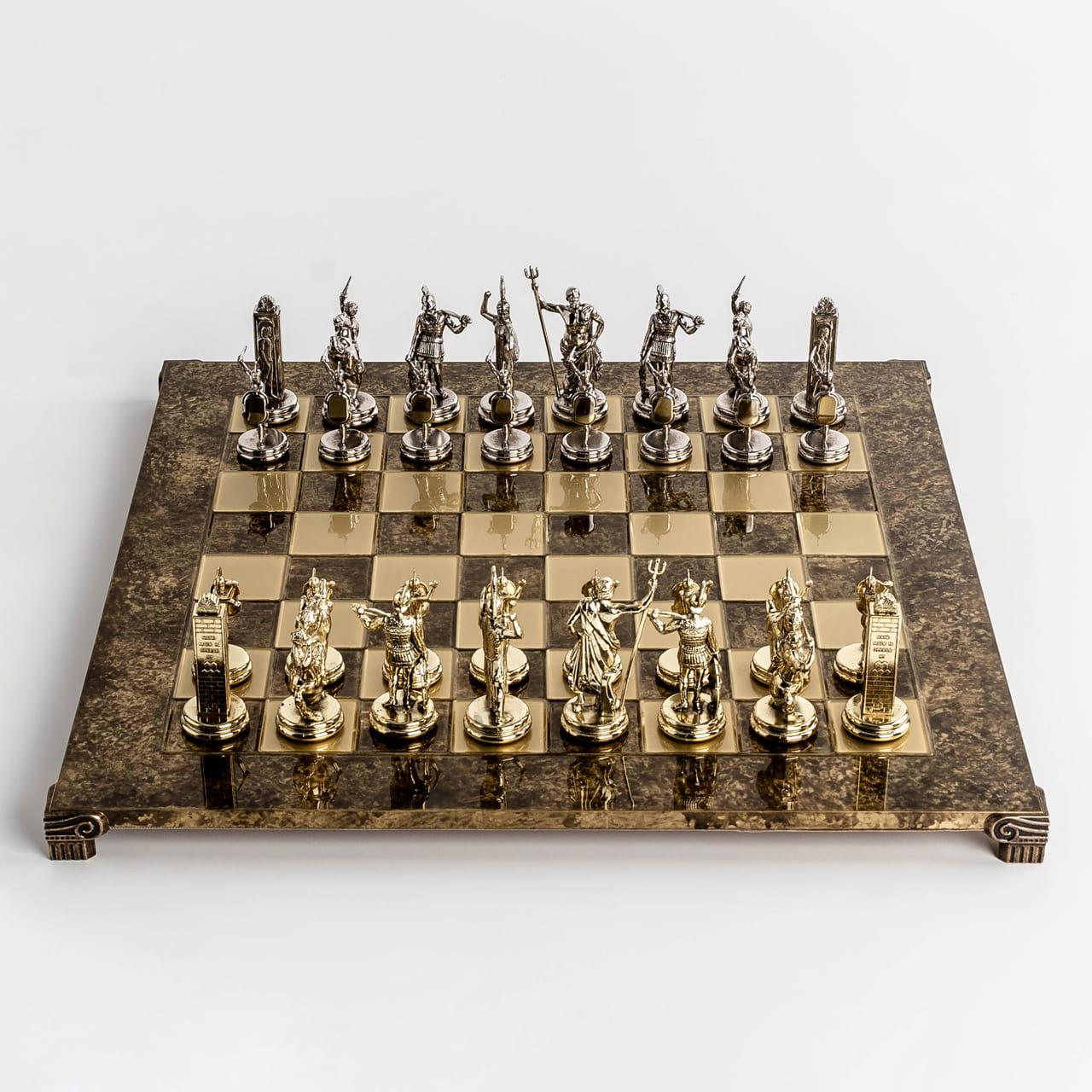 Ręcznie robione szachy z mosiądzu na prezent dla szachisty