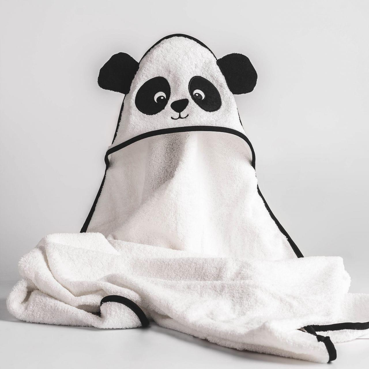 Haftowany ręcznik dla niemowlaka PANDA