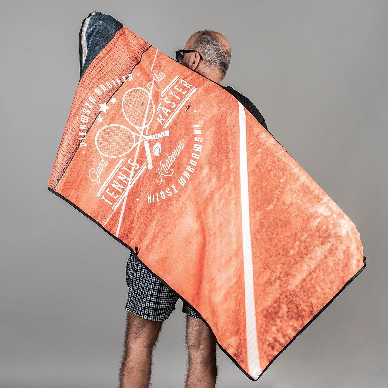 Ręcznik na prezent dla trenera tenisa