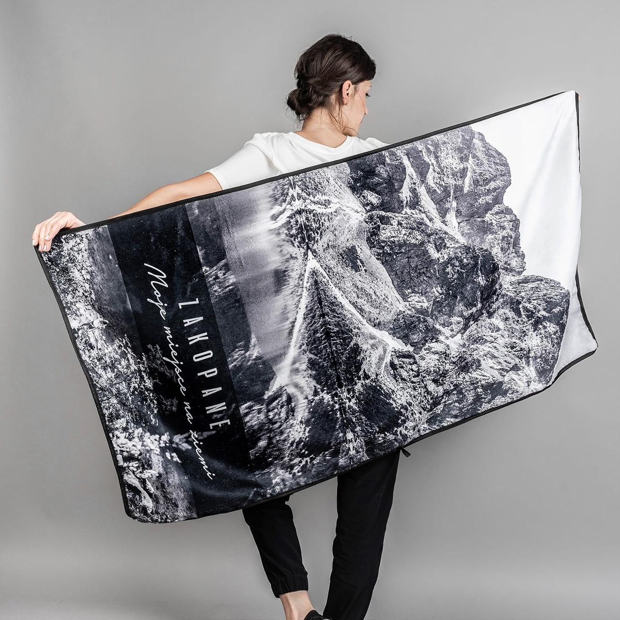 Ręcznik z mikrofibry ze zdjęciem TURYSTYCZNY