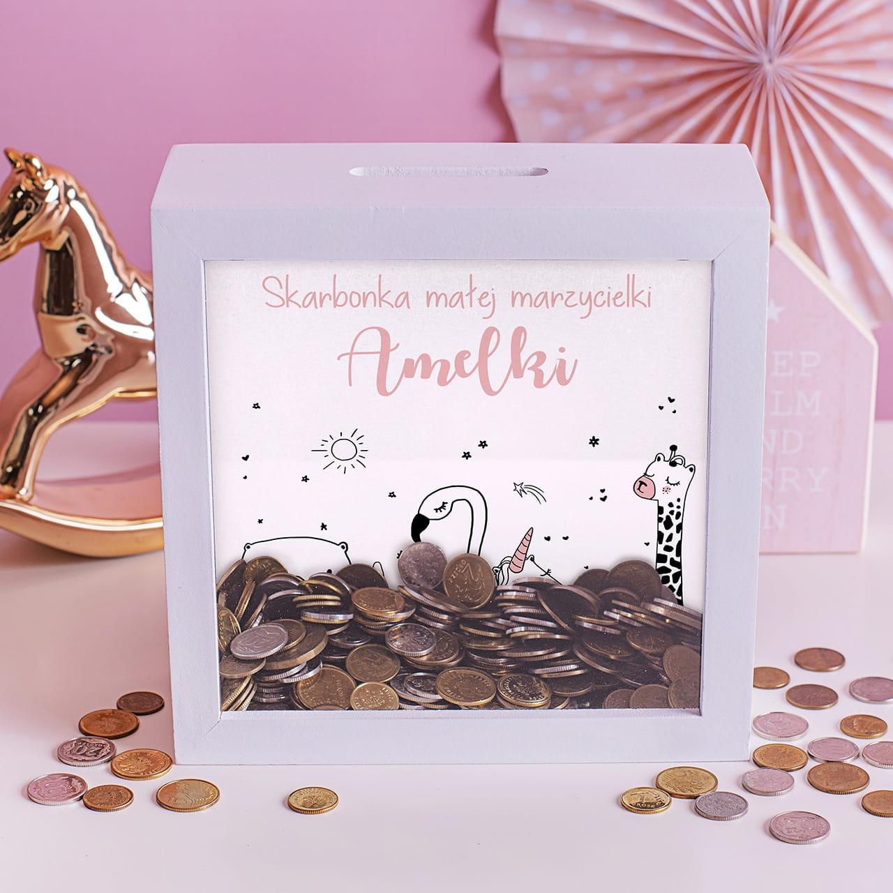 Skarbonka MARZYCIELKI prezent na Dzień Dziecka dla dziewczynki