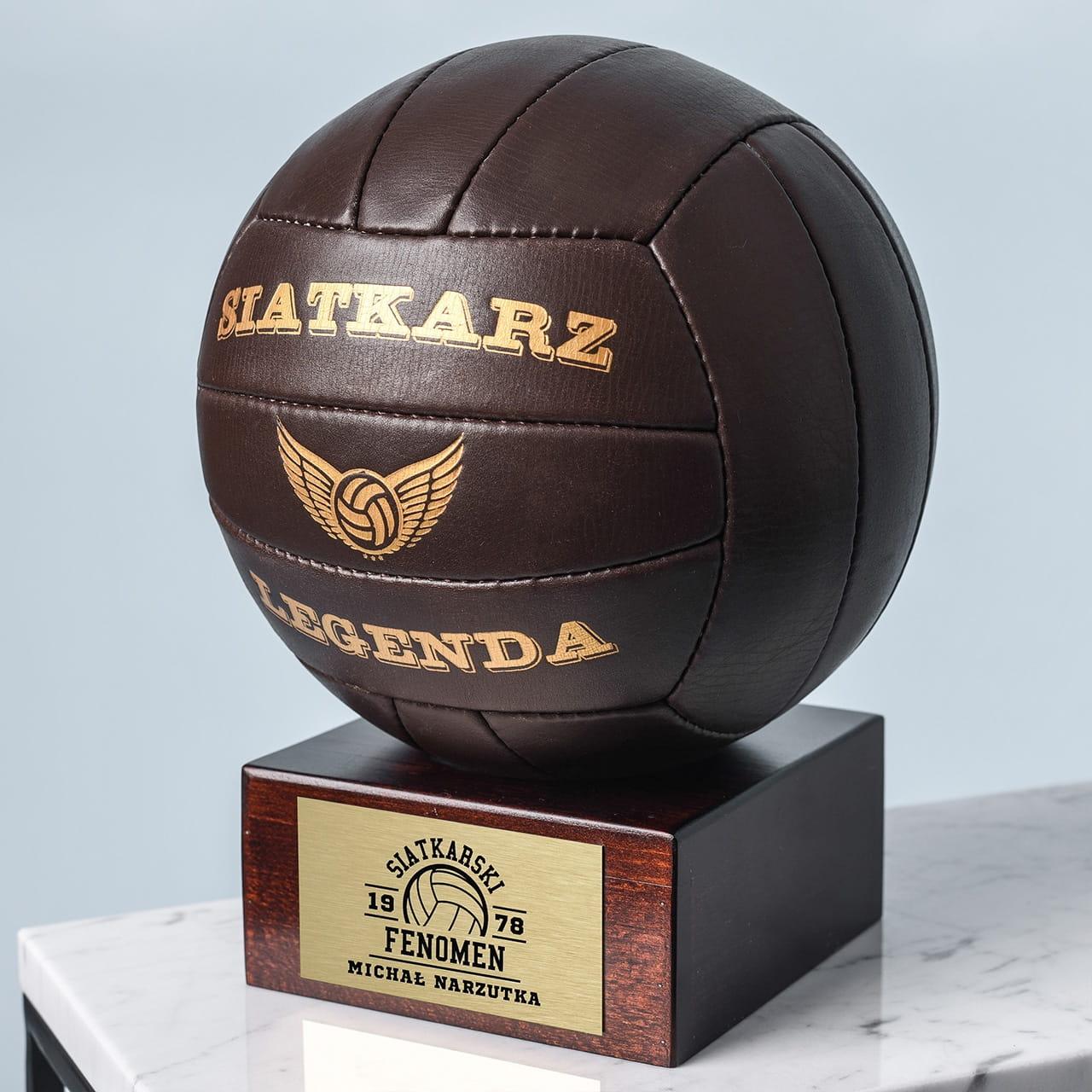 Skórzana piłka siatkarska retro SIATKARSKI FENOMEN