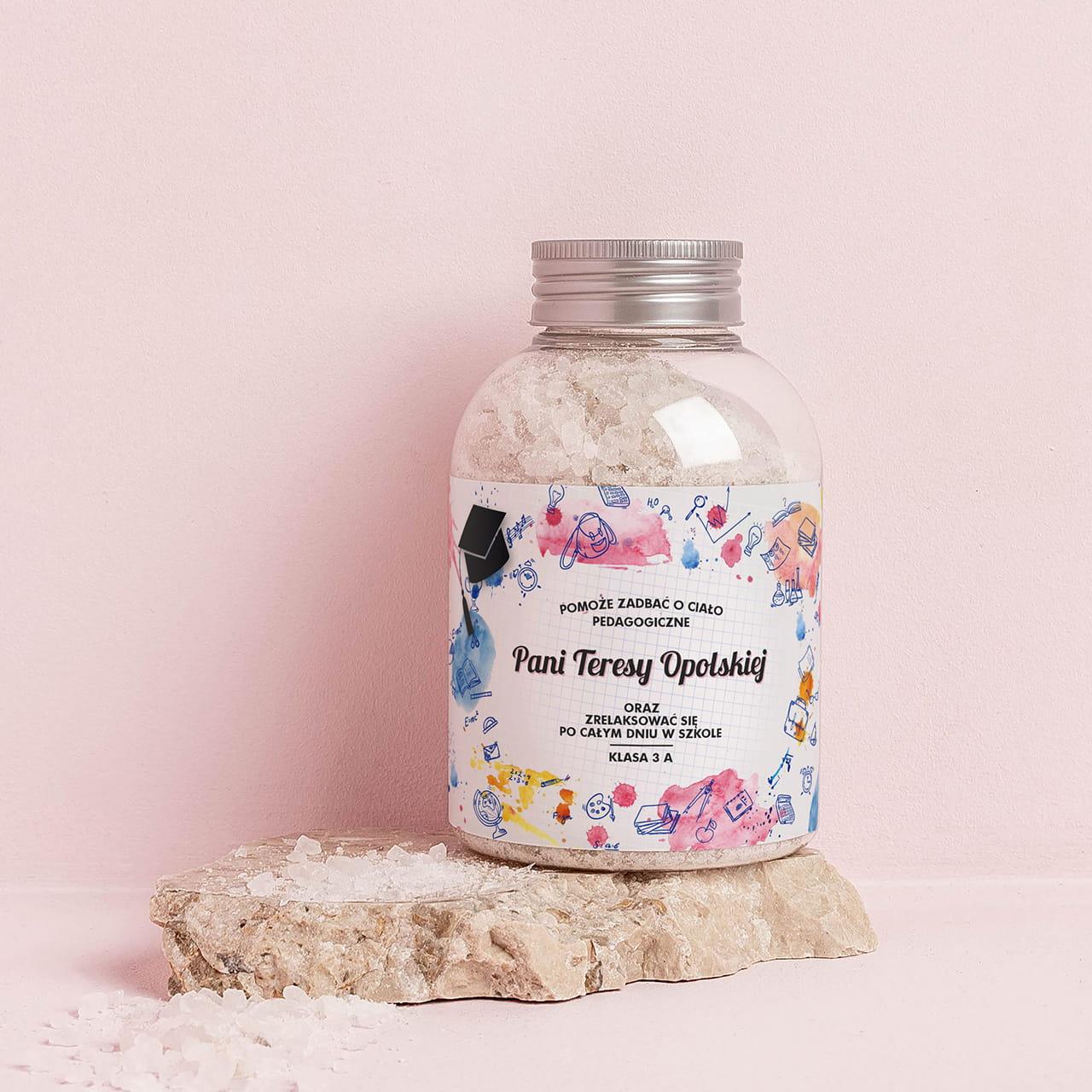 Sól do kąpieli na prezent na Dzień Nauczyciela