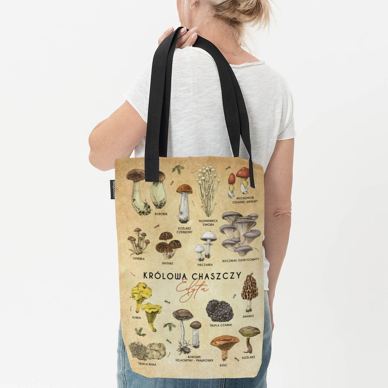 Duża torba na ramię, czyli praktyczny preazent dla grzybiarki