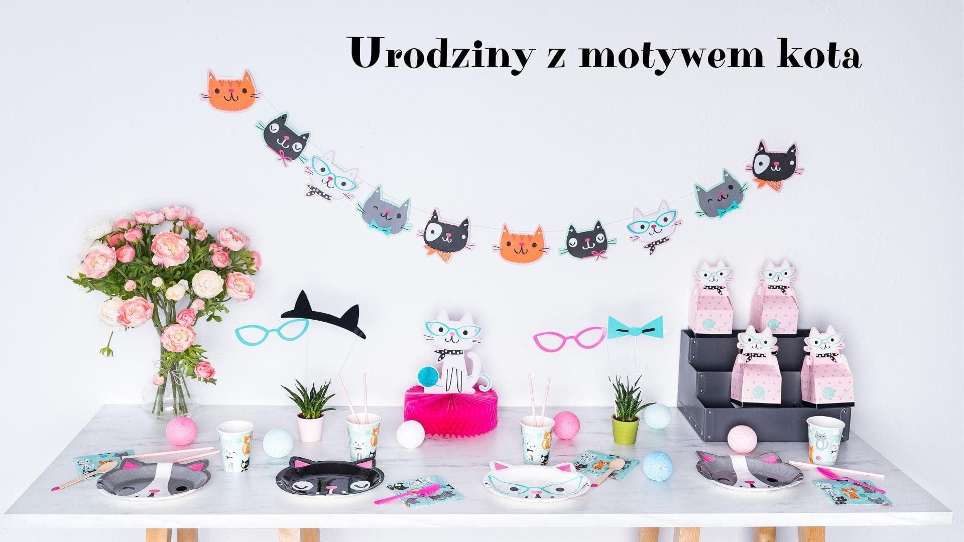 Kocie urodziny, czyli urodziny z motywem kota