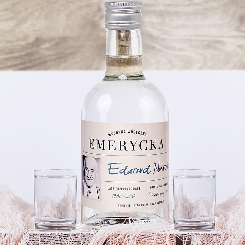 Wódka personalizowana na prezent z okazji przejścia na emeryturę