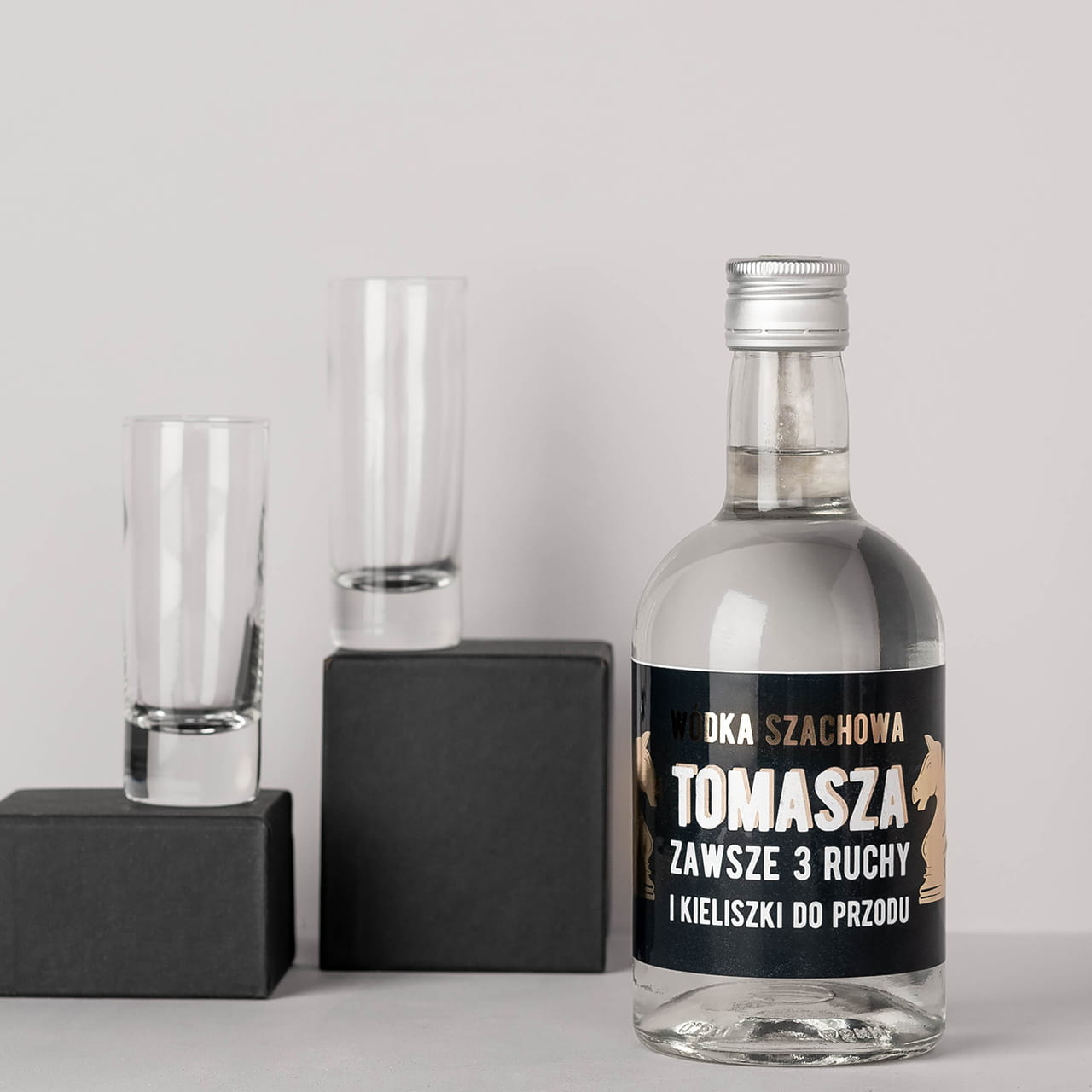 Wódka na prezent dla szachisty