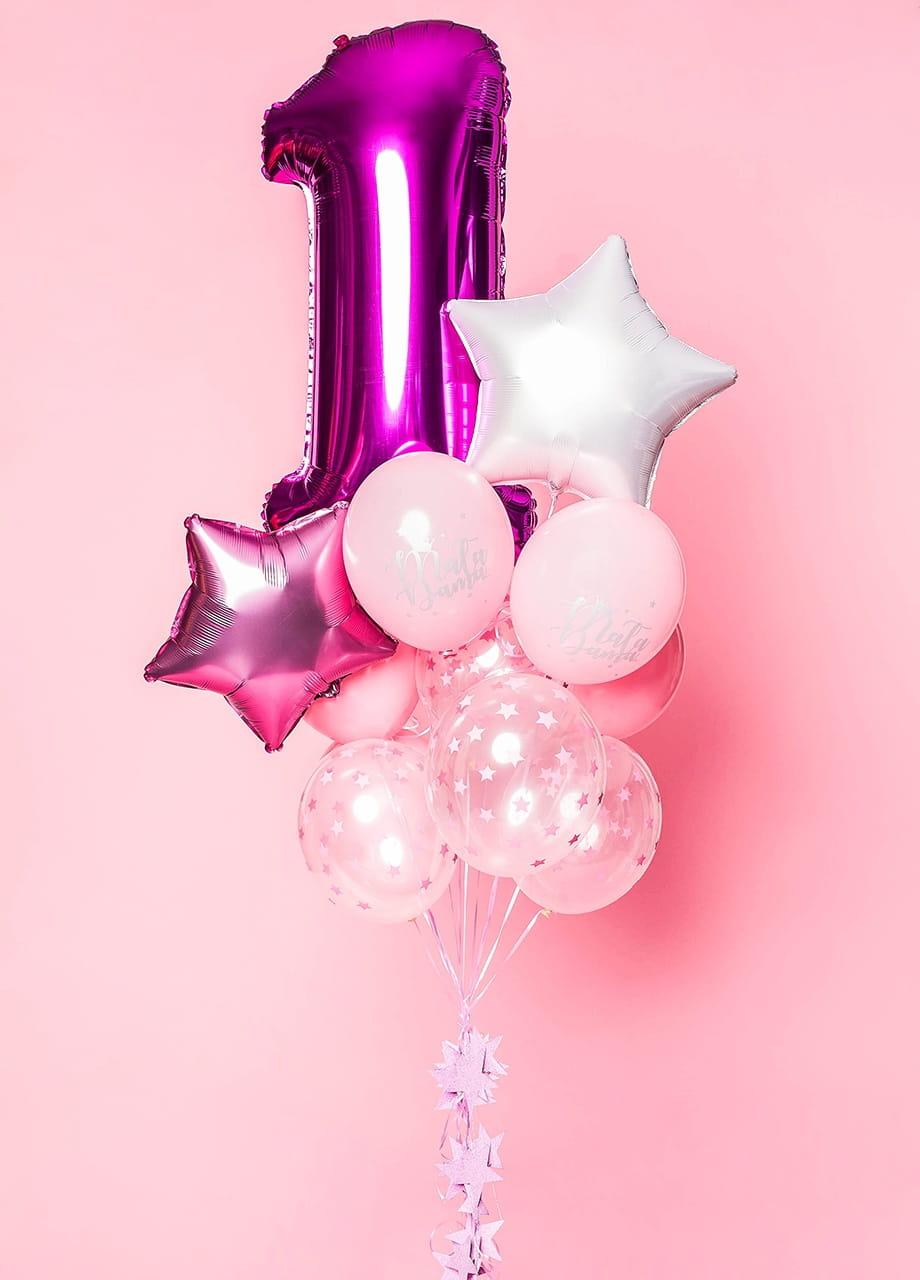 Balony z helem ROCZEK MAŁEJ DAMY
