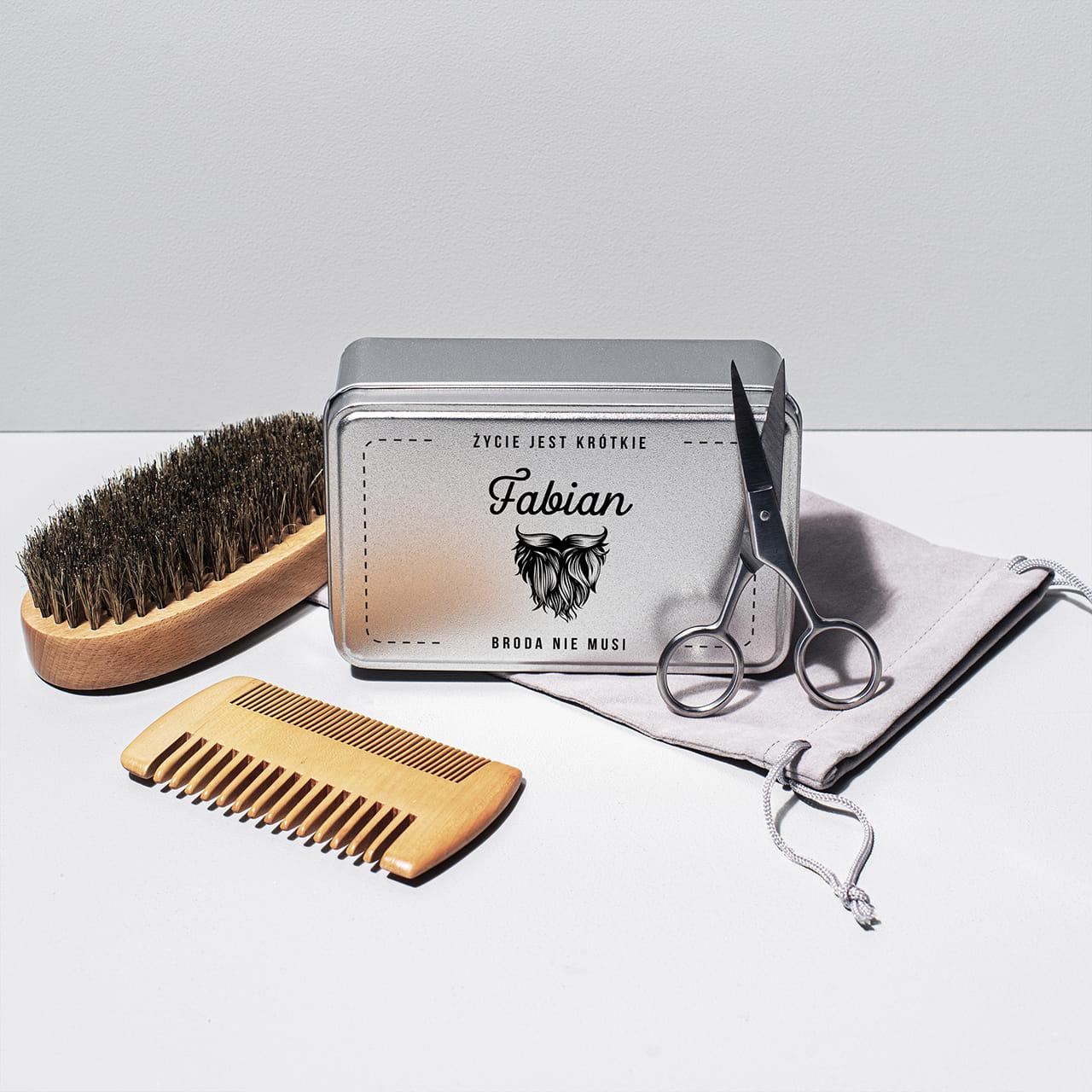 Zestaw do brody na prezent dla brodacza