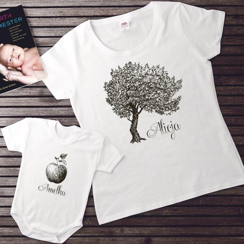 Koszulka na prezent dla młodej mamy i body dla dziecka