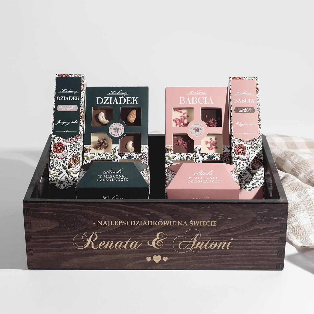 Zestaw słodyczy na wspólny prezent dla dziadków