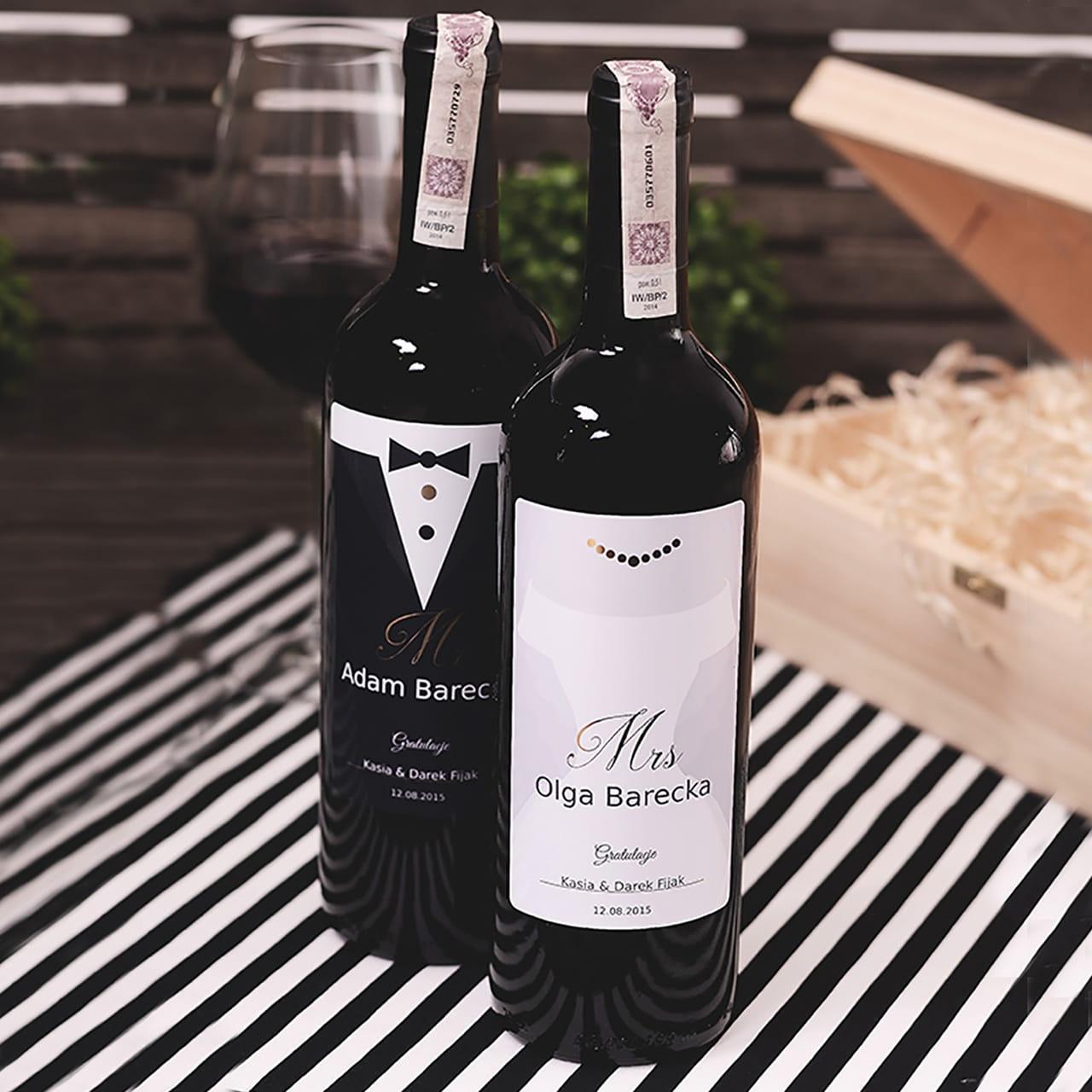 Personalizowane wino na prezent ślubny
