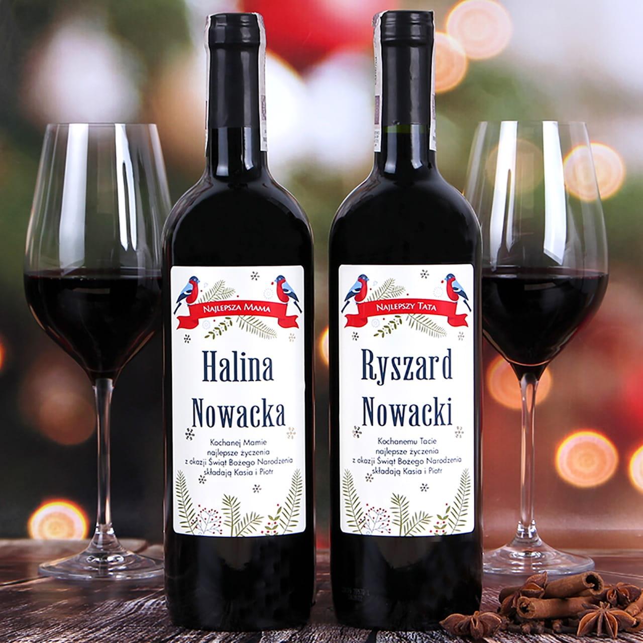 Zestaw win alkoholowych w skrzynce PTASZKI