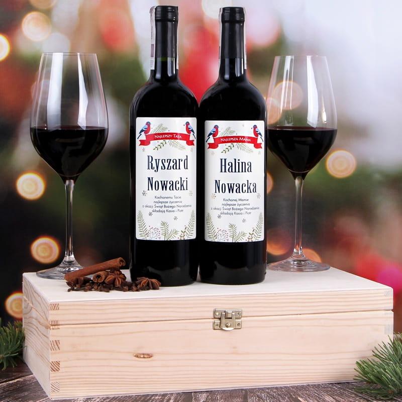 Zestaw win bezalkoholowych w skrzynce PTASZKI