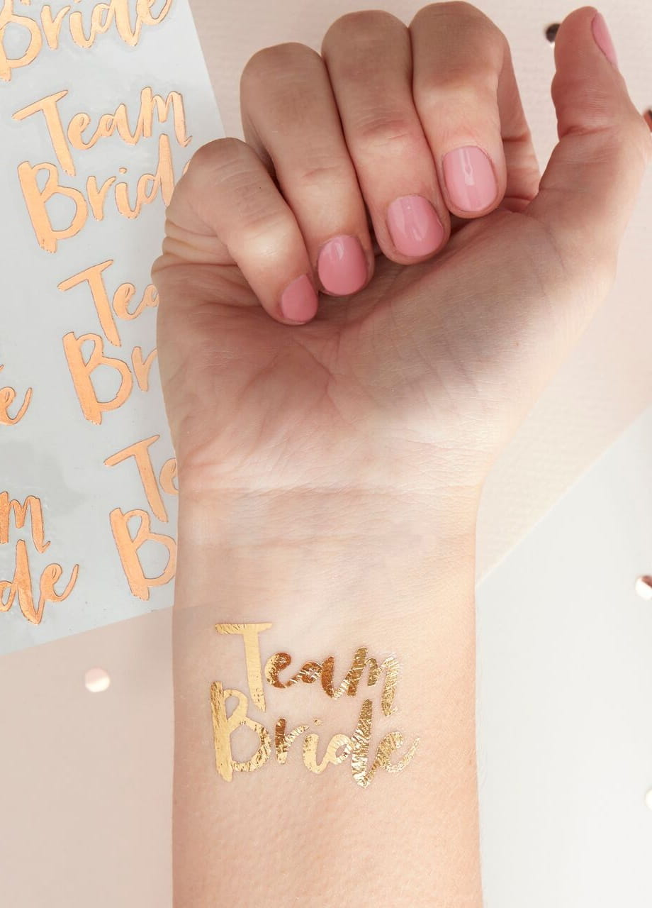 Tatuaze Tymczasowe Na Wieczor Panienski Team Bride Akcesoria