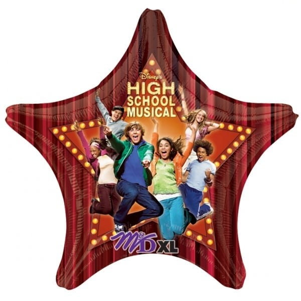Balon foliowy HIGH SCHOOL MUSICAL gwiazda (81cm)