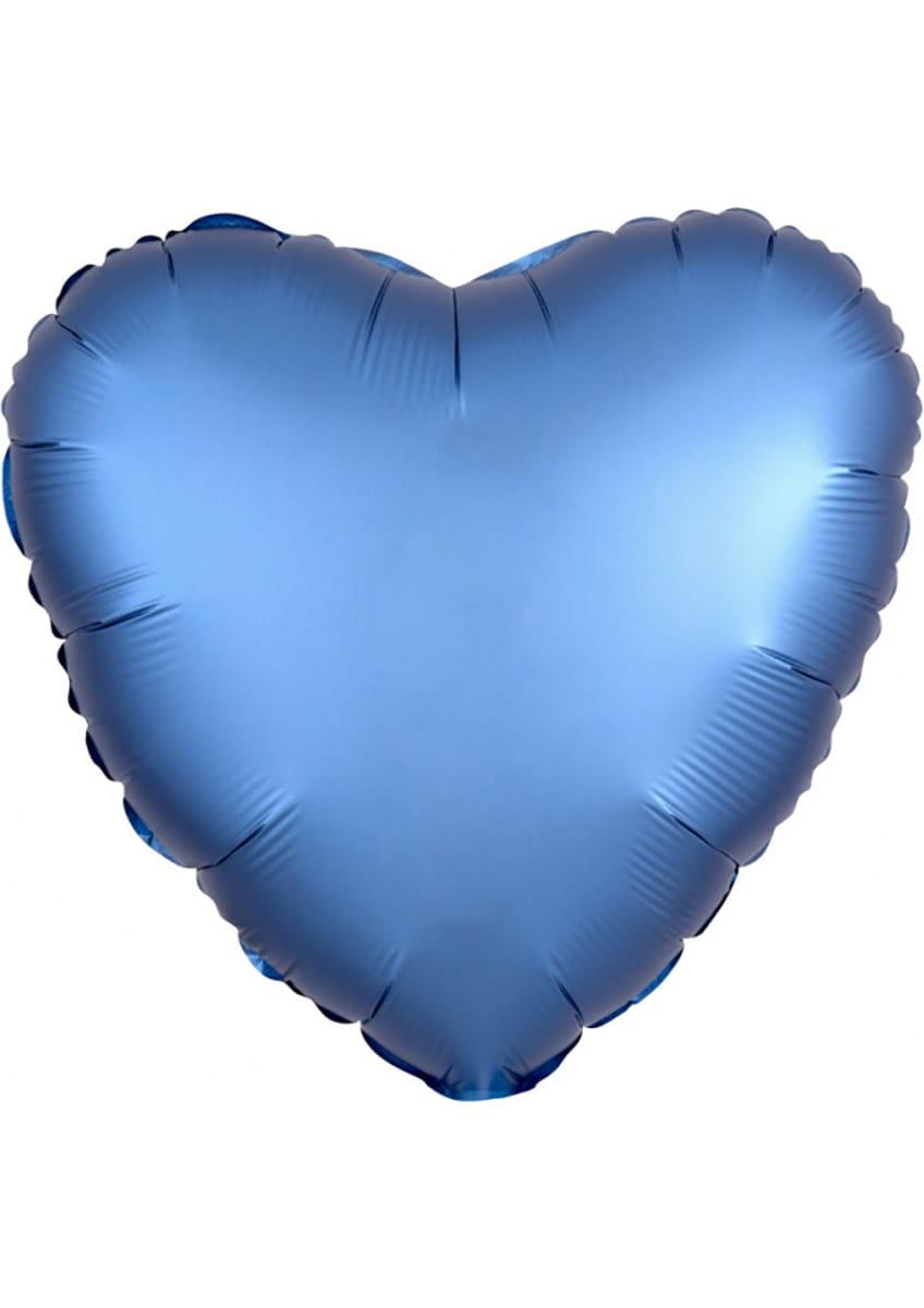 Balon Foliowy Serce Satynowe Niebieski 43cm Balony Foliowe